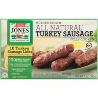 All-natural. Fully cooked. Gluten-free. Contains no mechanically separated turkey meat. No MSG. No nitrites or preservatives. 0g trans fat per serving.  10 count package.