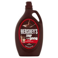 Fat Free. Hershey's Chocolate Syrup is as versatile as it is delicious! Use it as an ice cream topping or blend it with milk and ice cream to create a chocolate-flavored milkshake!