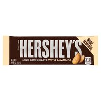 Hershey's Milk Chocolate with Almonds Bars are more than just candy bars. They're chances to stop and savor life's sweeter side, so enjoy these delicious bars of milk chocolate with roasted almonds.