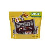 There's something for everyone with HERSHEY'S Miniatures Assortment! Includes HERSHEY'S Milk Chocolate, HERSHEY'S SPECIAL DARK Mildly Sweet Chocolate, KRACKEL Chocolate and MR. GOODBAR Chocolate.