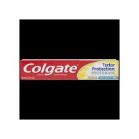 Colgate Tartar Protection Toothpaste with Whitening, with a great Crisp Mint flavor, has a unique formula that fights cavities and tartar build-up to give you a brighter smile.