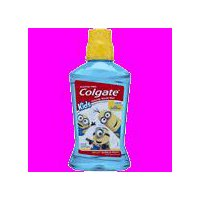 Colgate Kids Mouthwash, Minions Bello, is designed to help protect kids from cavities.
