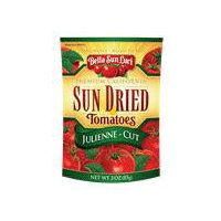 Bella Sun Luci Sun Dried Julienne Tomatoes in Re-Closeable Pouch, 3 Ounce
