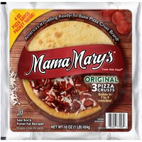 7 inch. Bakes in 8 Minutes. 3 Pizza Crusts.