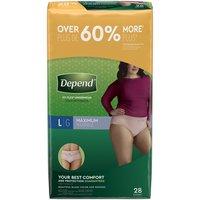 Depend Underwear for Women Large, 28 Each
