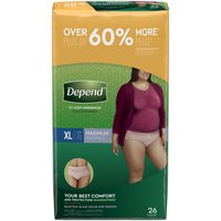 Depend Underwear For Women XL Soft Peach, 26 Each