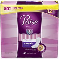 Poise Ultimate Absorbency Incontinence Pads - Long, 45 Each