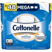 Cottonelle Ultra CleanCare Toilet Paper, 12 Mega Rolls, 12 Each