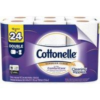 Cottonelle Ultra ComfortCare Toilet Paper, Double Rolls, 12 Each