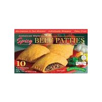 Caribbean Food Delights Jamaica Beef Patties - 10 Pack, 45 Ounce