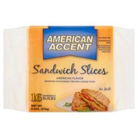 American Accent Sandwich Cheese Slices, 10 Ounce