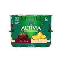 Activia Activia Activia Cherry Peach Yogurt - 12 Pack, 48 Ounce