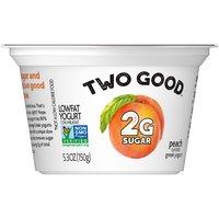 Light & Fit Two Good Peach Greek Yogurt, 5.3 Ounce