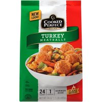 Cooked Perfect Cooked Perfect Meatballs - Turkey, 24 Ounce