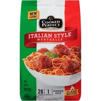 Flame Broiled. Approximately 26 original size (1 oz) meatballs. Microwaveable. Fully cooked. No artificial color and flavor. No MSG.