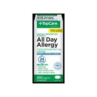 Top Care Allergy All Day Cetirizine 10mg Tablets, 300 Each