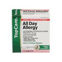 Top Care Allergy 10MG Cetirizin, 70 Each