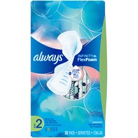 Always Infinity Super Sanitary Pads - Size 2, 32 Each