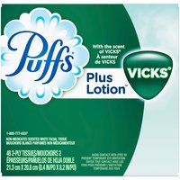 Puffs Puffs Plus Lotion with the Scent of Vick's Facial Tissue, 48 Each