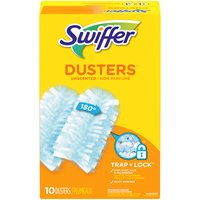 Swiffer 180 Dusters Trap + Lock dust & allergens common inanimate allergens from cat and dog dander & dust mite matter. Specially coated fibers grab onto dust & don't let go.