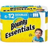 Bounty Bounty Essentials Select-A-Size Paper Towels, White, 6 Each