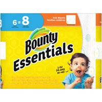 Bounty Essentials Full Sheets Big Roll Print Paper Towels, 6 Each