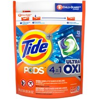 6x cleaning power vs. leading OXI detergent (stain removal of 1 Tide PODS + Ultra OXI pac vs. 6 doses of leading OXI liquid detergent, in standard machines). Helps tackle tough set-in odors.