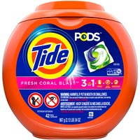 Tide PODS consist of up to 90% active ingredients, so you can be sure that you're paying for clean not for water. Reveal our brightest clean yet for brighter brights and whiter whites.
