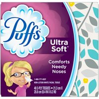 Puffs Puffs Ultra Soft Facial Tissues, 48 Each
