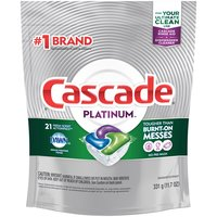 Cascade Platinum ActionPacs Dishwasher Detergent - Fresh, 11.7 Ounce