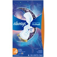 Always Always Infinity Size 4 Overnight Sanitary Pads wit, 26 Each
