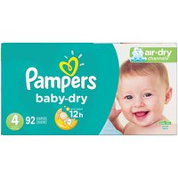Pampers Baby Dry Diapers Size 4, 92 Each
