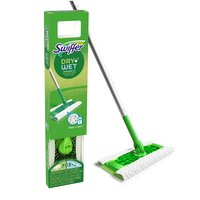 1 Sweeper, 7 Dry Cloths, 3 Wet Cloths. Dry cloths have 3X Cleaning Action on Dirt, Dust & Hair. Starter kit includes 1 Sweeper, 14 dry sweeping cloths, 6 wet mop cleaning solution cloths.