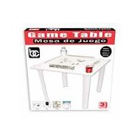 Bene Casa Game Table with Tile Racks and Drink Holder, 1 Each