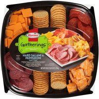 Packed individually for freshness. Hormel pepperoni & hard salami. Sargento mild cheddar & colby jack cheese. Keebler Townhouse crackers; Great for a party of 8.