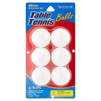 Lami Ping Pong Balls, 6 Each