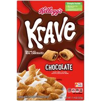 Crunchy multigrain cereal shells filled with a real chocolate center. A good source of fiber.