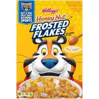 Start your morning with Tony the Tiger and the delicious taste of crunchy corn flakes with a sparkle of sweet honey nut flavored frosting in every bite.