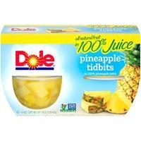 Dole Fruit Bowls - Pineapple Tidbits - 4 ct, 16 Ounce