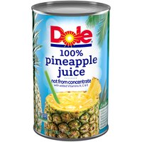 100% Juice with Vitamins A, C & E. Not from concentrate.