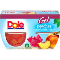 Dole Fruit Bowls - Peaches in Strawberry Gel - 4 ct, 17.2 Ounce