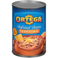 Ortega Traditional Refried Beans, 16 Ounce