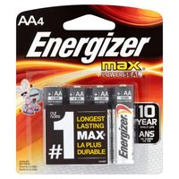 Energizer Alkaline Batteries - AA, 4 Each