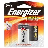 Energizer Max Alkaline Batteries, 9V, 1 Each