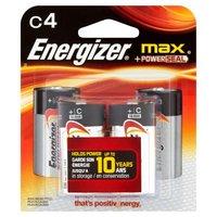 Energizer Alkaline Batteries - C, 4 Each
