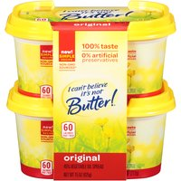 I Can't Believe It's Not Butter! Original offers fresh butter taste with no artificial preservatives. It is made with real, simple ingredients like a delicious blend of oils and purified water.