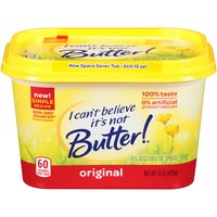 I Can't Believe It's Not Butter! Original is made from plant-based oils and is a source of good fats as well as a good or excellent source of Omega-3 ALA.