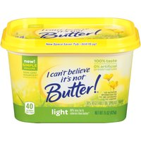 I Can't Believe It's Not Butter! spreads and sticks are made from plant-based oils and are a source of good fats as well as a good or excellent source of Omega-3 ALA.