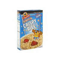 Toasted rice cereal. Fat free.