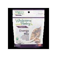 Sunflower seeds, raisins, cranberries, dry roasted soynuts, apples, almonds, walnuts. USDA organic. Per 1/4 Cup Serving: 130 calories; 1 g sat fat (5% DV); 15 mg sodium (1% DV); 9 g sugars.